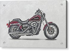 Harley-davidson-dyna-super-glide-custom-2014a Acrylic Print by Stephanie Hamilton