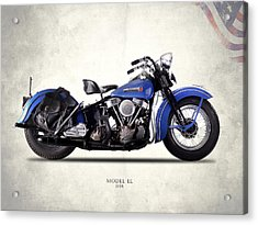 Harley-davidson El 1948 Acrylic Print by Mark Rogan