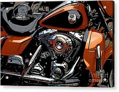 Leather And Chrome Acrylic Print
