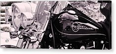 Harley Davidson Road King  Motorcycle Acrylic Print by Lisa  DiFruscio