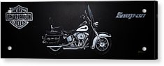 Acrylic Print featuring the painting Harley Davidson Snap-on by Richard Le Page
