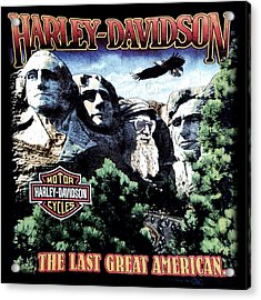 Harley Davidson The Last Great American Acrylic Print