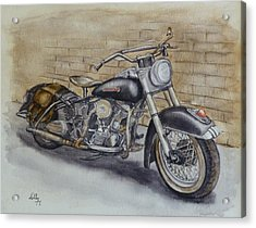Harley Davidson Vintage 1950's Acrylic Print