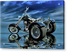 Acrylic Print featuring the photograph Harley Heritage Soft Tail Trike by Steven Agius