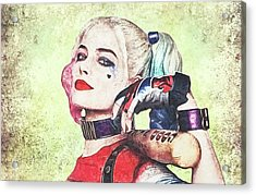 Harley Is A Crazy Woman Acrylic Print