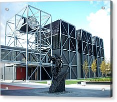 Harley Museum And Statue Acrylic Print