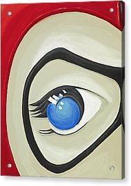 Harley Quinn Eye Acrylic Print by David Junod