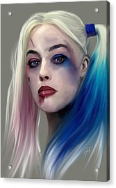 Harley Quinn Acrylic Print by Jason Longstreet