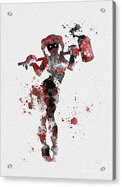 Harley Quinn Acrylic Print by Rebecca Jenkins
