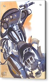 Acrylic Print featuring the painting Motorcycle Iv by Kip DeVore