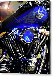 Harleys Twins Acrylic Print by DigiArt Diaries by Vicky B Fuller