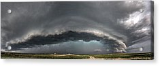 Harlowton, Montana, Supercell Acrylic Print