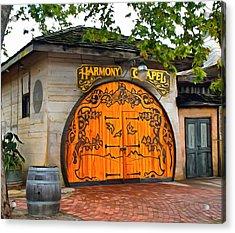 Harmony Chapel Harmony California Acrylic Print