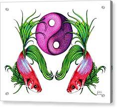 Harmony Together Acrylic Print by Sheryl Unwin
