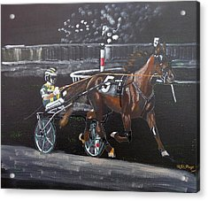 Harness Racing Acrylic Print