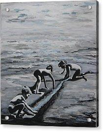 Harnessing The Ocean Acrylic Print by Naomi Gerrard