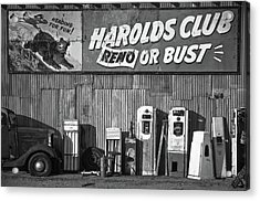 Harold's Club Acrylic Print by Marius Sipa