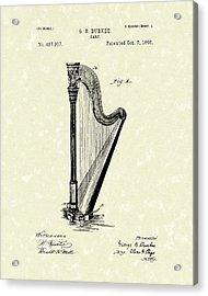 Harp 1890 Patent Art Acrylic Print