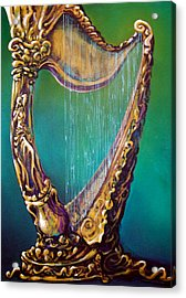 Acrylic Print featuring the painting Harp by Kevin Middleton