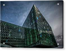 Harpa Acrylic Print by Wade Courtney