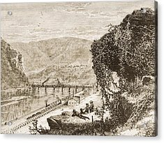 Harpers Ferry Circa 1870s. From Acrylic Print by Vintage Design Pics