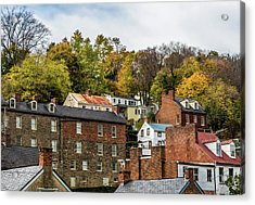 Acrylic Print featuring the photograph Harpers Ferry In Autumn by Ed Clark