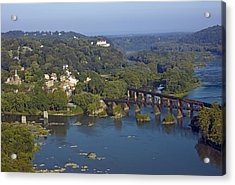 Harpers Ferry West Virginia From Above Acrylic Print by Brendan Reals