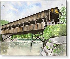Harpersfield Bridge Acrylic Print