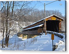 Harpersfield Covered  Bridge Ohio Acrylic Print