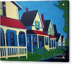 Harpswell Cottages Acrylic Print by Debra Bretton Robinson
