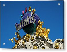 Harrah's Casino Sign On The Las Vegas Strip Acrylic Print