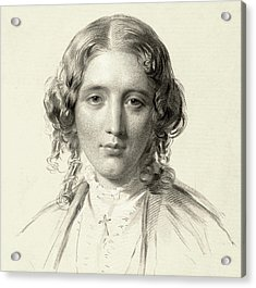 Harriet Beecher Stowe Acrylic Print by Francis Holl