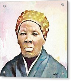 Harriet Tubman Acrylic Print by Wayne Pascall