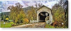 Harris Covered Bridge Acrylic Print by Thom Zehrfeld