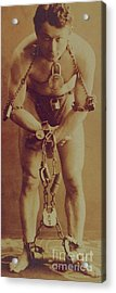 Harry Houdini In Chains Acrylic Print