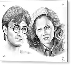 Harry Potter And Hermione Acrylic Print by Murphy Elliott