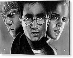 Harry Potter Fanart Acrylic Print by Jasmina Susak