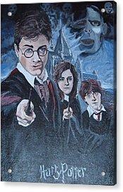 Harry Potter Acrylic Print by Julie Cranfill