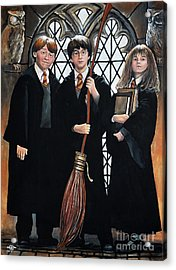 Harry Potter Acrylic Print by Tom Carlton