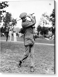 Acrylic Print featuring the photograph Harry Vardon - Golfer by International  Images