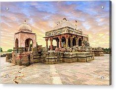 Harshat Mata Temple  Acrylic Print by Nila Newsom
