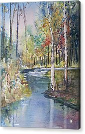 Hartman Creek Birches Acrylic Print by Ryan Radke