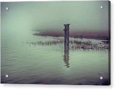 Harty Ferry In The Fog Acrylic Print by Dave Godden