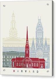 Harvard Skyline Poster Acrylic Print