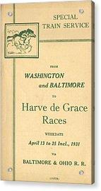Harve De Grace Races Acrylic Print