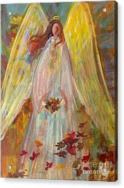 Harvest Autumn Angel Acrylic Print