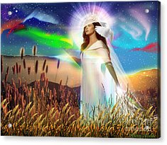 Acrylic Print featuring the digital art Harvest Bride by Dolores Develde