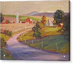 Harvest In Upstate New York Acrylic Print by Len Stomski