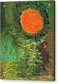 Harvest Moon Abstract Acrylic Print by Shelly Wiseberg