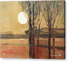 Harvest Moon Acrylic Print by Donald Maier